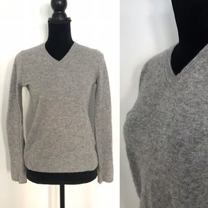 Heather Gray Cashmere Sweater Size Small